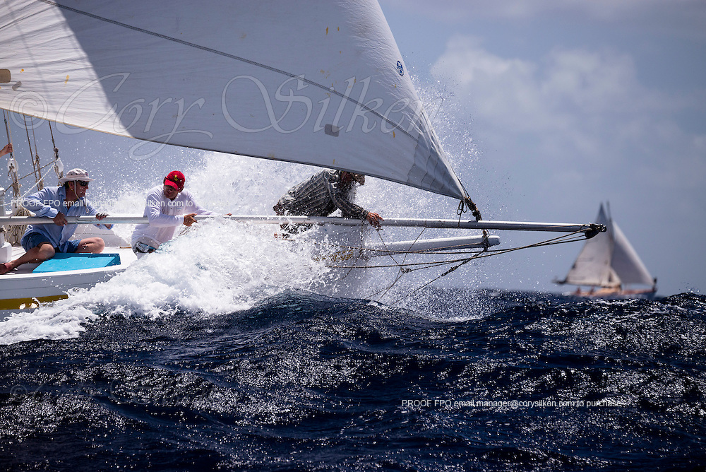 Sweetheart sailing in the Old Road Race of the Antigua Classic Yacht Regatta.