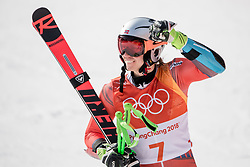 February 18, 2018 - Pyeongchang, SOUTH KOREA - 180218 Henrik Kristoffersen of Norway celebrates after Alpine Skiing Men's Giant Slalom during day nine of the 2018 Winter Olympics on February 18, 2018 in Pyeongchang..Photo: Joel Marklund / BILDBYRÃ…N / kod JM / 87633 (Credit Image: © Joel Marklund/Bildbyran via ZUMA Press)