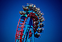 The Mind Eraser, Elitch Gardens amusement park, Denver, Colorado USA