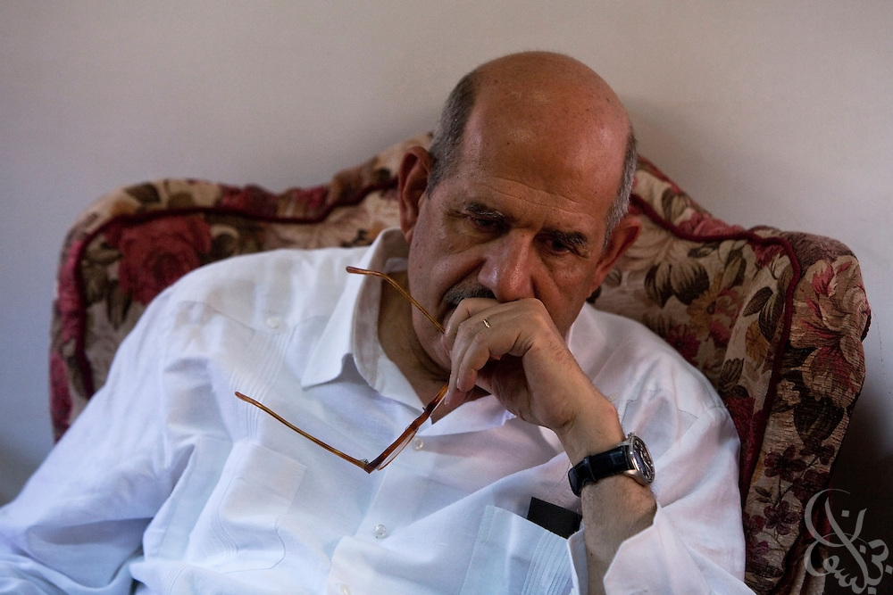 Egyptian Nobel Peace laureate and former UN atomic watchdog chief, Mohamed ElBaradei takes a few moments of rest between appearances in the Egyptian Nile delta town of Aga April 2, 2010. ElBaradei is thought to be a possible candidate to run against Egyptian President Hosni Mubarak in the 2011 presidential election, although he has not made a formal declaration as of yet.