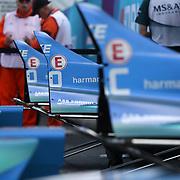 Roma 13/04/2018 <br /> ABB FIA Formula E Championship<br /> Gran Premio di Roma <br /> I meccanici ai Box effettuano settari
