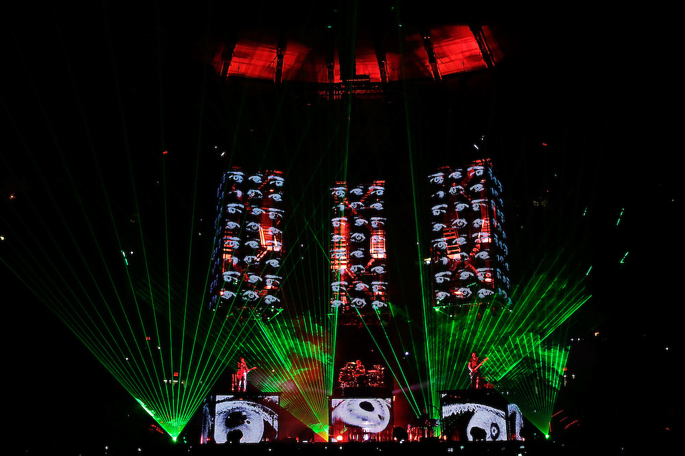 NEW YORK - MARCH 05:  Muse performs in concert at Madison Square Garden on March 5, 2010 in New York City.  (Photo by Joe Kohen/WireImage for New York Post)