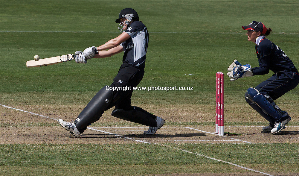 Sydney-22 March:  Nicole Brown batting during the ICC Women's World Cup Cricket final between New Zealand and England at North Sydney Oval, Sydney, Australia from March 22, 2009. New Zealand made 166 in their innings. Photo by Tim Clayton.