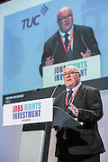 Keving Mchugh speaking at the TUC congress 2016, Brighton. UK.