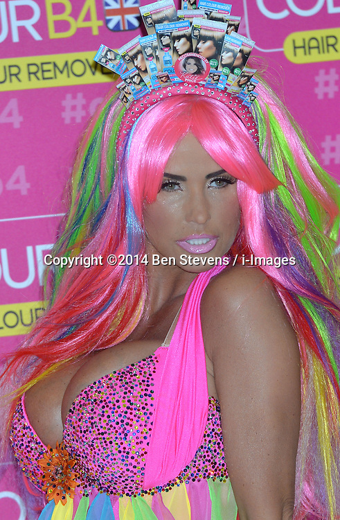 Image &copy;Licensed to i-Images Picture Agency. 04/06/2014. <br /> <br /> Pregnant Katie Price aka Jordan atteneds  a photocall at The Worx Studios, Parsons Green,  London, UK.<br /> <br /> Picture by Ben Stevens / i-Images