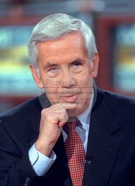 Senator Richard Lugar discusses the situation in Kosovo during NBC's Meet the Press April 18, 1999 in Washington, DC.