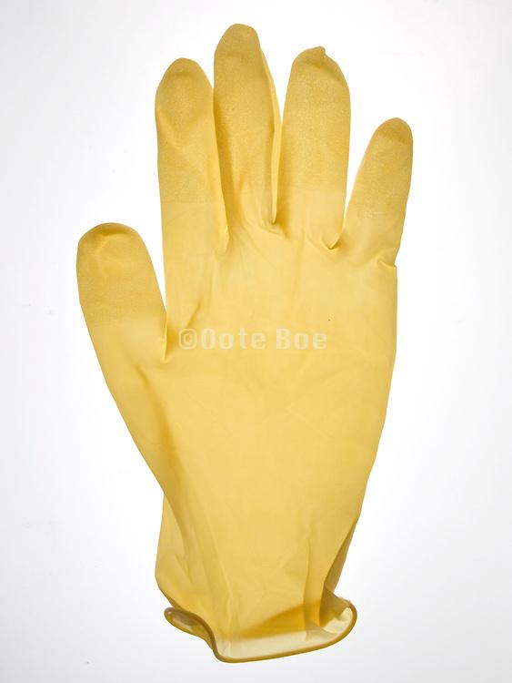 still life of a latex glove