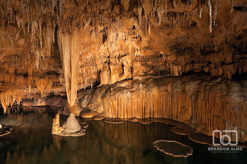 The famous Lily Pad Room inside Onondaga Cave in Leasburg, Missouri.