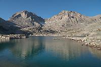 Fremont and Jackson Peaks seen from Indian Basin, Bridger Wilderness, Wind River Range Wyoming