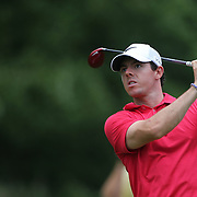 Rory McIlroy in action during the first round of theThe Barclays Golf Tournament at The Ridgewood Country Club, Paramus, New Jersey, USA. 21st August 2014. Photo Tim Clayton