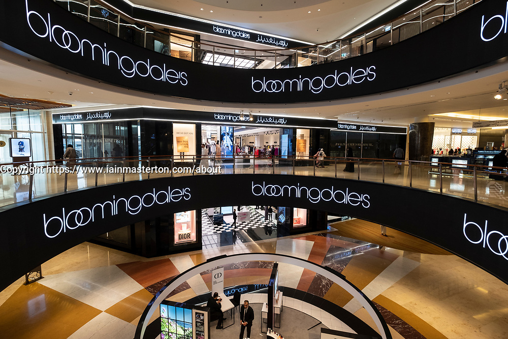 Exterior of Bloomingdales department store at the 360 Mall ,shopping mall in Kuwait City, Kuwait.