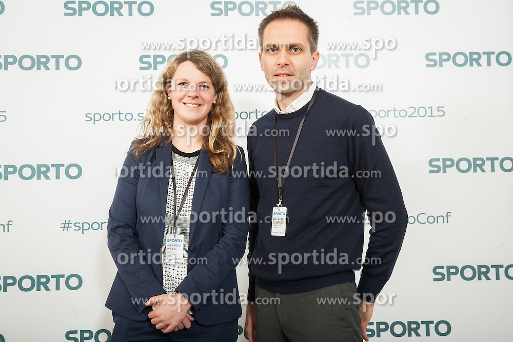 Alexandra Willis (All England lawin tennis club - Wimbeldon) and Dragan Perendija (SPORTO Team) during Sports marketing and sponsorship conference Sporto 2015, on November 19, 2015 in Hotel Slovenija, Congress centre, Portoroz / Portorose, Slovenia. Photo by Vid Ponikvar / Sportida