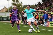 Forest Green Rovers Paul Digby(20) passes the ball forward during the EFL Sky Bet League 2 match between Forest Green Rovers and Port Vale at the New Lawn, Forest Green, United Kingdom on 8 September 2018.