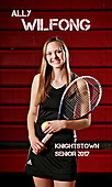 2017 KHS tennis senior banners