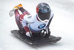 15.12.2017, Olympia Eisbahn, Igls, AUT, BMW IBSF Weltcup und EM, Igls, Sekeleton Damen, 1. Lauf, im Bild Elisabeth Vathje (CAN) // Elisabeth Vathje of Canada during 1st run of women's Skeleton competition of BMW IBSF World Cup and European Championship at the Olympia Eisbahn in Igls, Austria on 2017/12/15. EXPA Pictures © 2017, PhotoCredit: EXPA/ Johann Groder