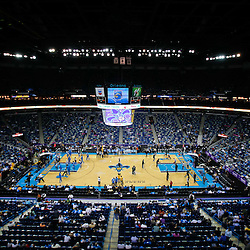 October 27, 2010; New Orleans, LA, USA; A general view from the stands prior to tip off between the New Orleans Hornets and the Milwaukee Bucks at the New Orleans Arena. Mandatory Credit: Derick E. Hingle