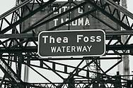 Murray Morgan Bridge sign - Tacoma, WA