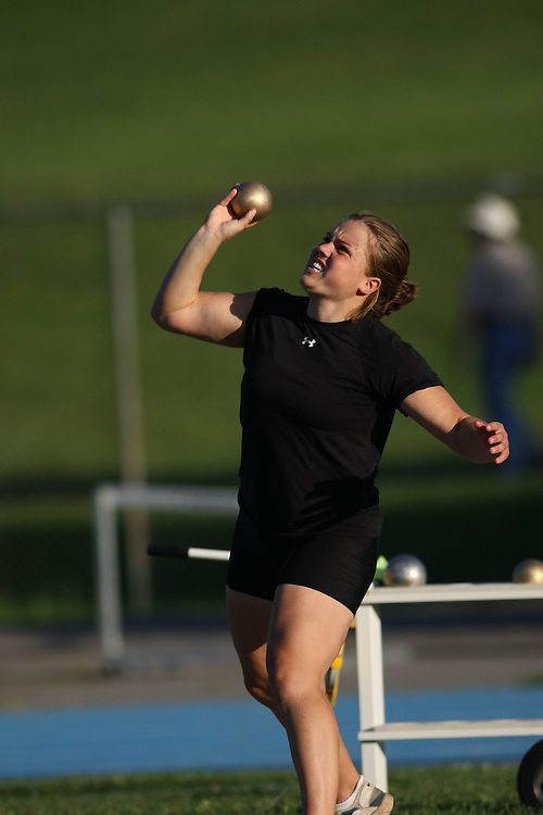 (Ottawa, Ontario---14 August 2008)   of  competing in the women's shot put at the 2008 Ontario Summer Games and Ontario v. Quebec v. Atlantic Canada Espoire Meet. Photo copyright Sean Burges/Mundo Sport Images. More details can be found at www.msievents.com.