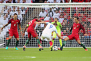 England forward, Harry Kane (09) trying to find a way through during the Friendly International match between England and Portugal at Wembley Stadium, London, England on 2 June 2016. Photo by Matthew Redman.