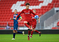 ST HELENS, ENGLAND - Wednesday, October 24, 2018: Liverpool's Rhys Williams during the UEFA Youth League Group C match between Liverpool FC and FK Crvena zvezda at Langtree Park. (Pic by David Rawcliffe/Propaganda)