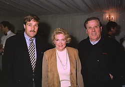 Left to right, MR GARY SMART the Managing Director of Billy Smart's Circus and his parents MR & MRS RONNIE SMART he is the son of founder Billy Smart, at a party in London on October 21st 1997.MCI 1