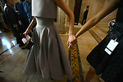 MANHATTAN, NEW YORK, SEPTEMBER 13, 2015 Views of backstage at the Victoria Beckham fashion show at Cipriani's in Manhattan, NY. 9/13/2015 Photo by ©Jennifer S. Altman/For The New York Times