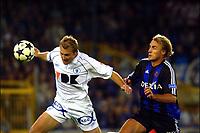 Fotball<br /> Belgia 2003/2004<br /> 13.09.2003<br /> Brugge v Gent<br /> Foto: Digitalsport<br /> <br /> Bengt Sæternes - Brugge / Brügge<br /> <br /> BRUGGE 13/09/2003<br />CLUB BRUGGE/KAA GENT<br />FC BRUGES/LA GANTOISE<br />TJORVEN DE BRUL/BENGT SAETERNES<br />PICTURE BY JIMMY BOLCINA