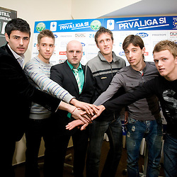 20100210: Football-Soccer - Press conference of NK Olimpija, Ljubljana