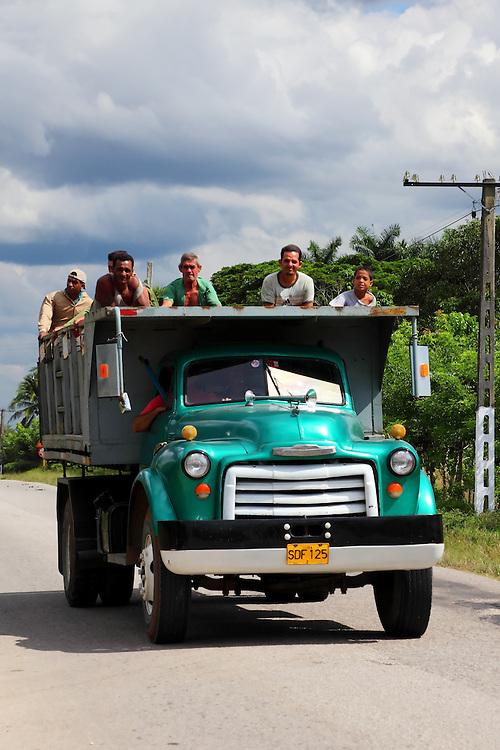 Old dump truck near Cabaiguan, Sancti Spiritus, Cuba.