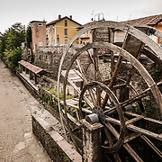 Groppello (Milan, Lombardy, Italy) - The old big wheel on the Martesana canal