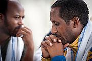 Lampedusa, Sicilia, ott 2013. Lampedusa Island, Sicily, Italy, oct 2013. Rifugiati eritrei, Eritrean refugees.