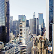 Aerial view of New York on fifth avenue.