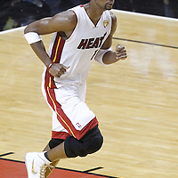 21 June 2012: Miami Heat power forward Chris Bosh (1) is seen during the Miami Heat 121-106 victory over the Oklahoma City Thunder, in Game 5 of the 2012 NBA Finals, at the AmericanAirlinesArena, Miami, Florida, USA. The Miami Heat wins the series 4-1.