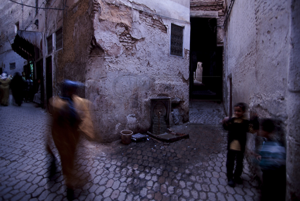 Fez Medina is the worlds largest car-free area and it is renowed for its maze-like narrow streets.