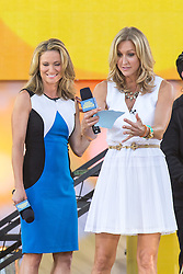 17.08.2013, New York, USA, ABC Show, Good Morning Amerika, im Bild Lara Spencer and Amy Robach // during the ABC Show Good Morning Amerika in New York, Unites States of Amerika on 2013/08/17. EXPA Pictures © 2013, PhotoCredit: EXPA/ Newspix/ MediaPunch Inc<br /> <br /> ***** ATTENTION - for AUT, SLO, CRO, SRB, BIH, TUR, SUI and SWE only *****