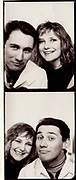 Mark and Jo in a photo booth, London, UK, 1987.