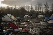 The Grande Synthe migrants camp, most of the camp is flooded and migrant are forced to leve in the mud. France. FEDERICO SCOPPA/CAPTA