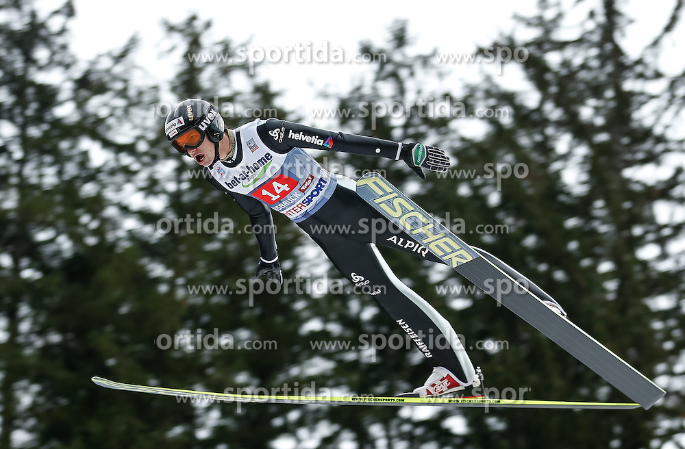04.01.2014, Bergisel Schanze, Innsbruck, AUT, FIS Ski Sprung Weltcup, 62. Vierschanzentournee, Probesprung, im Bild Gregor Deschwanden (SUI) // Gregor Deschwanden of Switzerland during Trial Jump of 62nd Four Hills Tournament of FIS Ski Jumping World Cup at the Bergisel Schanze, Innsbruck, Austria on 2014/01/04. EXPA Pictures © 2014, PhotoCredit: EXPA/ Peter Rinderer