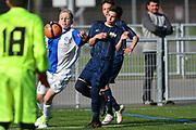 08.04.17; Zuerich; Fussball FCZ Academy - Grasshopper Club - Zuerich FE14 Oberland; <br /> Lorenzet Joe (GC) Bieri Jann (Zuerich) <br /> (Andy Mueller/freshfocus)