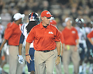 Ole Miss assistant coach Tom Allen vs. Vanderbilt in Nashville, Tenn. on Thursday, August 29, 2013.