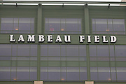 GREEN BAY, WI - SEPTEMBER 25:  A Green Bay Packers Lambeau Field stadium sign on display prior to the game against the Tampa Bay Buccaneers at Lambeau Field on September 25, 2005 in Green Bay, Wisconsin. The Buccaneers defeated the Packers 17-16. ©Paul Anthony Spinelli
