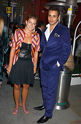 FRANCESCA VERSACE and MARKUS KETTY at the launch of 'Blow Lips' a new lipstick by Isabella Blow and MAC Makeup held at the the Blow de la Barra Gallery, 35 Heddon Street, London on 7th September 2005.<br /><br />NON EXCLUSIVE - WORLD RIGHTS