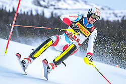 17.02.2019, Aare, SWE, FIS Weltmeisterschaften Ski Alpin, Slalom, Herren, 1. Lauf, im Bild Ramon Zenhaeusern (SUI) // Ramon Zenhaeusern of Switzerland in action during his 1st run of men's Slalom of FIS Ski World Championships 2019. Aare, Sweden on 2019/02/17. EXPA Pictures © 2019, PhotoCredit: EXPA/ Dominik Angerer