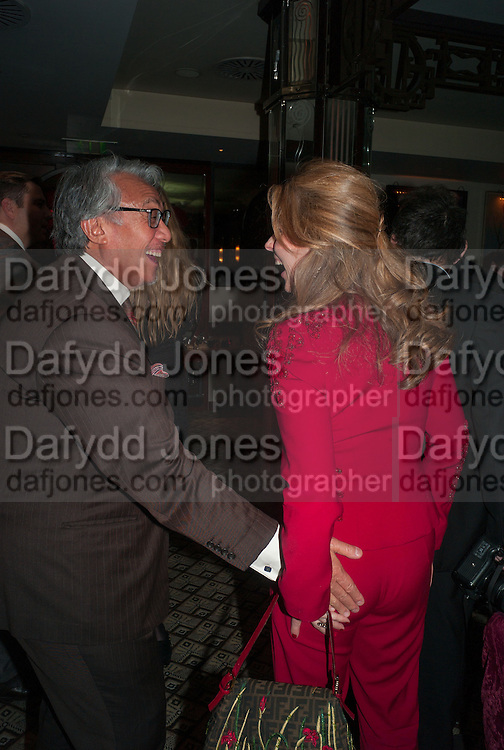 SIR DAVID TANG; LADY FORTE, Chinese New Year dinner given by Sir David Tang. China Tang. Park Lane. London. 4 February 2013.