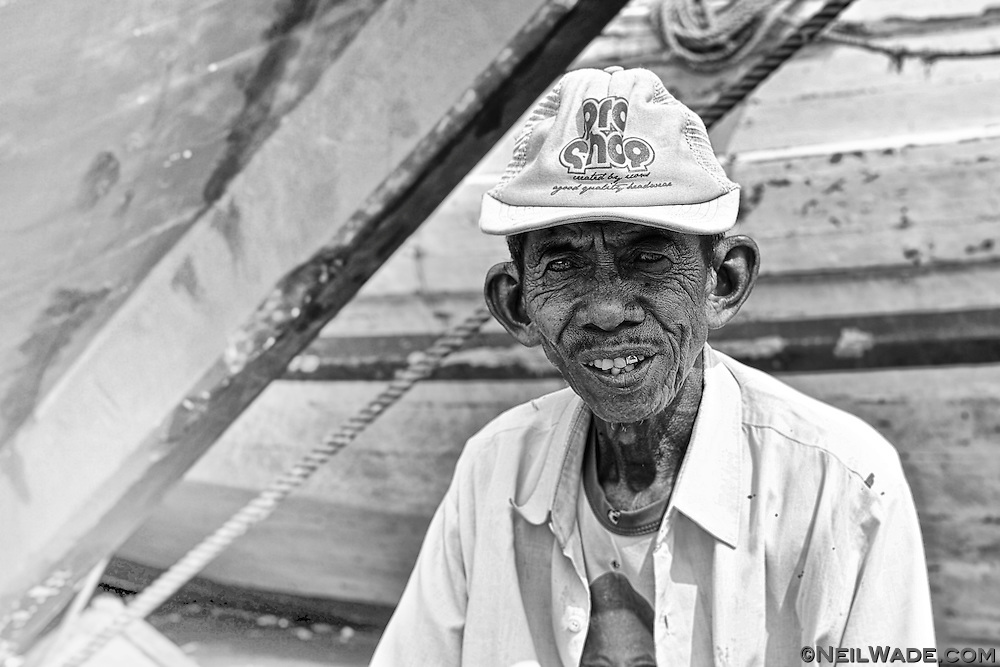 This man was giving boat tours of the waterfront at the Jakarta main harbor, Sunda Kelapa.