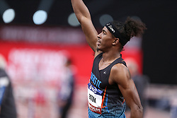 February 7, 2018 - Paris, Ile-de-France, France - Jarret Eaton of USA wins the 60m Hurdles during the Athletics Indoor Meeting of Paris 2018, at AccorHotels Arena (Bercy) in Paris, France on February 7, 2018. (Credit Image: © Michel Stoupak/NurPhoto via ZUMA Press)