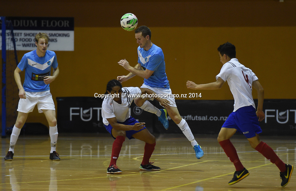 Reiner Bauerfeind for Central Futsal Hawkes Bay v AFF Futsal. National Futsal League, Series 3. ASB Stadium, Auckland, New Zealand. Friday 5 December 2014. Photo: Andrew Cornaga/photosport.co.nz
