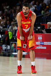 10.09.2014, Palacio de los deportes, Madrid, ESP, FIBA WM, Frankreich vs Spanien, Viertelfinale, im Bild Spain&acute;s Navarro // during FIBA Basketball World Cup Spain 2014 Quarter-Final match between France and Spain at the Palacio de los deportes in Madrid, Spain on 2014/09/10. EXPA Pictures &copy; 2014, PhotoCredit: EXPA/ Alterphotos/ Victor Blanco<br /> <br /> *****ATTENTION - OUT of ESP, SUI*****