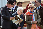 © Licensed to London News Pictures. 14/05/2014. Windsor, UK. HRH Queen Elizabeth II attends The opening day of The Royal Windsor Horse Show, set in the grounds of Windsor Castle. Established in 1943. Photo credit : Stephen Simpson/LNP
