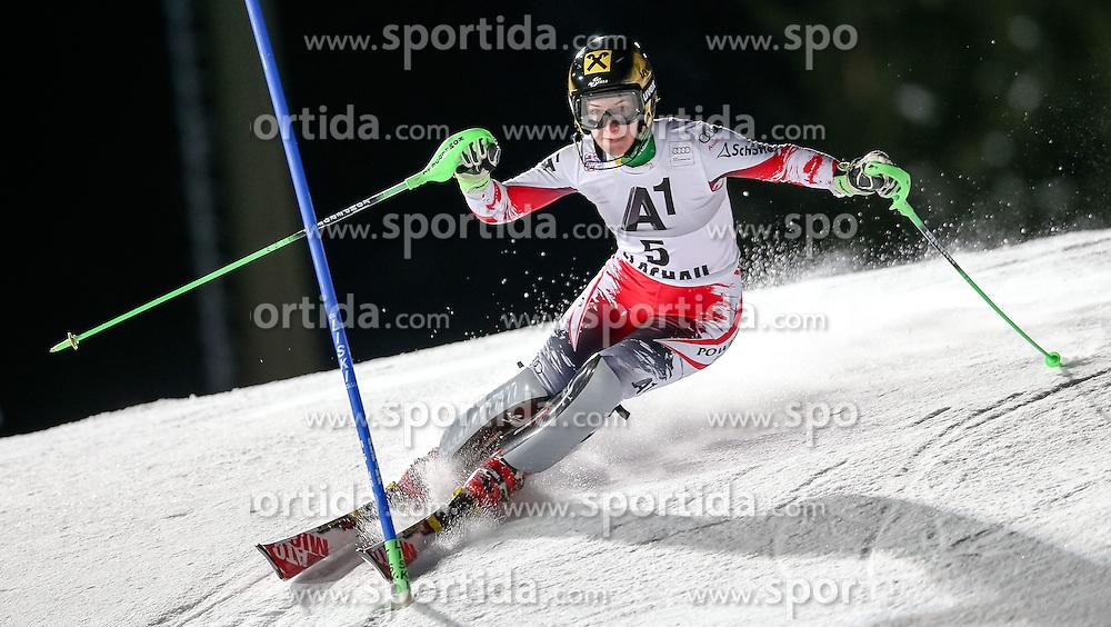 13.01.2015, Hermann Maier Weltcupstrecke, Flachau, AUT, FIS Weltcup Ski Alpin, Flachau, Slalom, Damen, 1. Lauf, im Bild Kathrin Zettel (AUT) // Kathrin Zettel of Austria in action during 1st run of the ladie's Slalom of the FIS Ski Alpine World Cup at the Hermann Maier Weltcupstrecke in Flachau, Austria on 2015/01/13. EXPA Pictures © 2015, PhotoCredit: EXPA/ Johann Groder